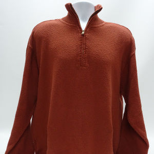 Tommy Bahama LS Rust Colored Pullover Sweater